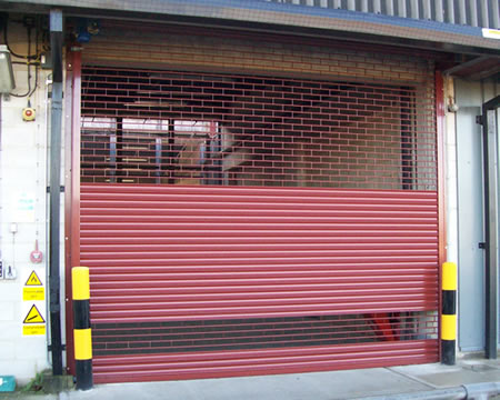Half security grille half shutter