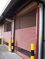 Sideview of security shutter