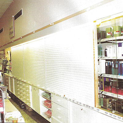 Hideaway Store Display Security Drathmore Shutters And