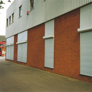 Extruded high security slat shutter